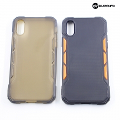 PC+TPU Dual Color Matching Journey  Matte Mobile Phone Cases 丨2-in-1 Anti-fall Mobile Phone Case