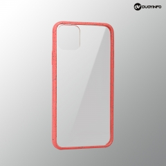 Biodegradable Wheat Straw Acrylic and TPU Bumper Transparent Phone Case