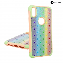 Four-legged Reptile Glitter Powder Mobile Phone Case丨 PC+ TPU+PU glitter powder 3 in 1  Phone Case