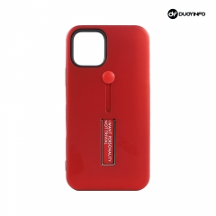 Simple Solid Color Matte Variety Phone Case with Soft Ring Bracket丨PC+TPU  2 in 1 mobile phone case丨 Invisible Bracket