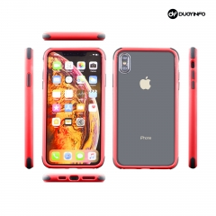 Transparent Acrylic Back Color Bumper Rubber Corner Protective Phone Cover | for...