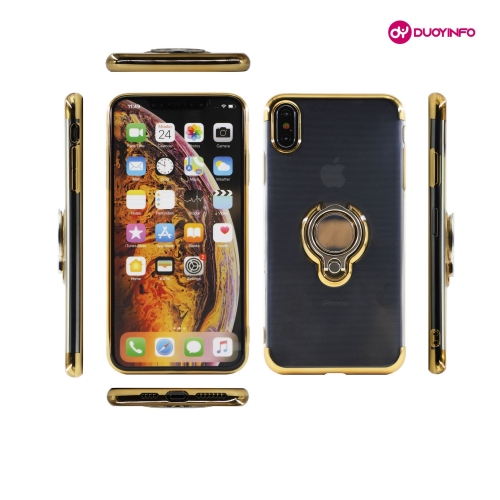 Transnet Series - Electroplated Soft TPU Phone Case with Ring Car Magnet Holder