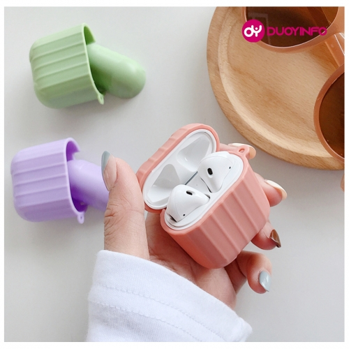 Luggage Case Silicone Solid Color Airpods Case for Airpods 1&2 Case/ Airpod Pro