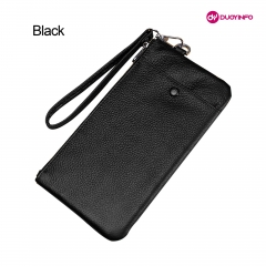 Genuine Leather Universal Phone Bag Soft Material Storage Bag for 4.0-6.5 inch P...