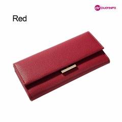 Fashion Lychee Pattern Buckle Mobile Phone Wallet  丨PU Clutch Long Ladies Wallet...