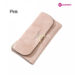 Fashion Women Oil Wax Leather Mobile Casual Wallet 丨 Large Capacity Clutch 丨 Lon...