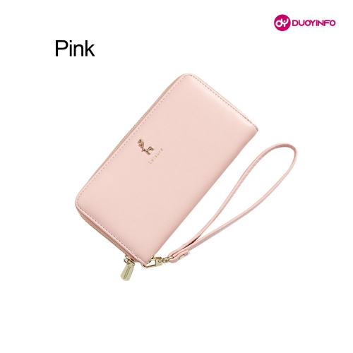 Multifunctional Solid Color Multi-Card Zipper Clutch Bag  丨Korean Version Long Ladies Wallet