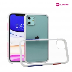 High Quality Tempered Glass Blank Phone Case TPU Bumper 2-in-1 Mobile Phone Case