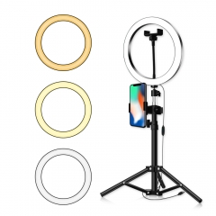 50cm/1.2M/1.6M/2.1M/ Metal Tripod Bracket with 20cm/26cm Fill Ring Light  Live S...