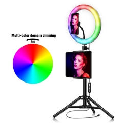 RGB 26cm High Quality Fill Ring Light Live Show with 1.3 Meter Bracket for Tripo...