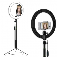 20c/26cm Ring Light equipped with 95CM/1.2M Retractable Selfie Stick and Tripod ...