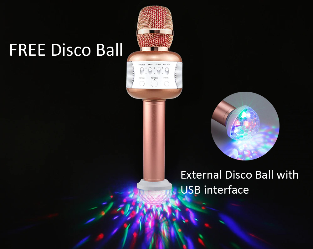 Eray E106 Wireless Bluetooth Karaoke Microphone with Built-in Speakers for  Party, Birthday, Kids Gift Black/Gold/PINK