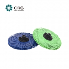 Radial bristle discs-grit from 1000# fine to 80# coarse.3 inch,15000~2000 RPM-6pcs/pack