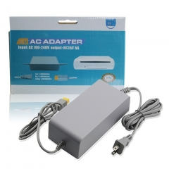 US Plug AC Power Supply Adapter for Wii U Game Console (Grey)