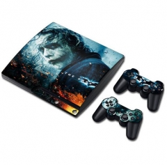 PS3 slim Console Protective Sticker Cover Skin Controller Skin Sticker 08