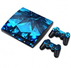 PS3 slim Console Protective Sticker Cover Skin Controller Skin Sticker 01