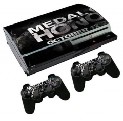 For PS3 Fat Console Protective Sticker Cover Skin Controller Skin Sticker