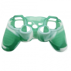 For PS3 Controller Silicon case light green+white