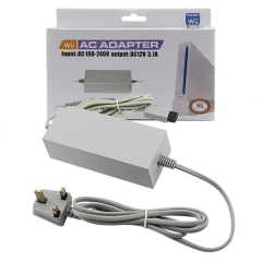 Wii AC Adapter UK Plug Gray