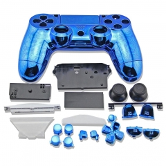 electroplate Case for PS4 Controller blue