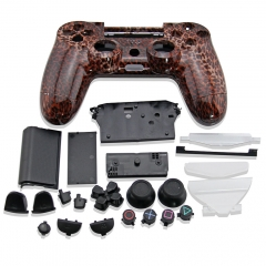 PS4 Controller Full Case leopard print design