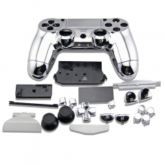 electroplate Case for PS4 Controller Silver
