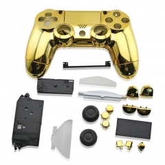 PS4 Controller Full Case electroplate Gold