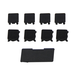 Full Replacement Rubber Feet/ Plastics Screws Cap Kit for PS3 Slim Housing Shell - Black (9 Piece)
