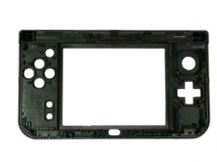 Hinge Part Bottom Middle Housing Button Shell Replacement for NEW 3DS XL 2015 - Black