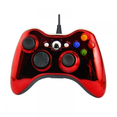 XBOX 360 WIRED CONTROLLER -Electroplated red