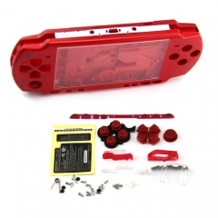 Housing For PSP2000 Console Shell(clear red)