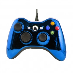 XBOX 360 WIRED CONTROLLER -Electroplated blue