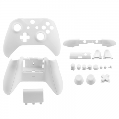 Full Housing Shell Case Cover with Buttons for Xbox One Slim Wireless Controllers - White