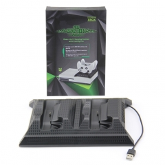 4 in1 Controller Charging Station with Cooling Fan and 4 USB Hub Port for Xbox One Slim console