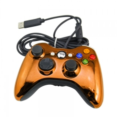 XBOX 360 WIRED CONTROLLER -Electroplated orange