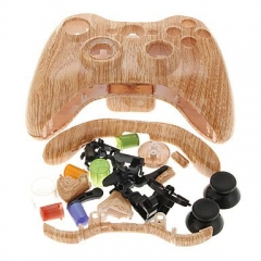 Wood Grain Housing Case for Xbox 360 Controller