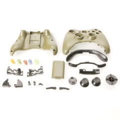 Full Housing Case with Buttons for Xbox 360 Wireless Controller - Army Green