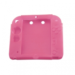 Silicone Soft Skin Protective Case Cover for Nintendo 2DS Console Pink