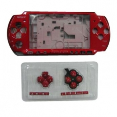 Red Housing Faceplate Case Cover for PSP 3000 Console Replacement Housing Shell Case