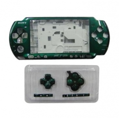 Green Housing Faceplate Case Cover for PSP 3000 Console Replacement Housing Shell Case