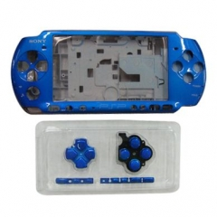 Blue  Housing Faceplate Case Cover for PSP 3000 Console Replacement Housing Shell Case