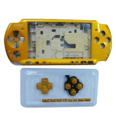 Yellow Housing Faceplate Case Cover for PSP 3000 Console Replacement Housing Shell Case