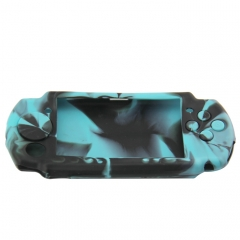 PSP 3000 silicon Case Camouflage light blue+black