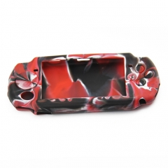 PSP 3000 silicon Case Camouflage Red+black