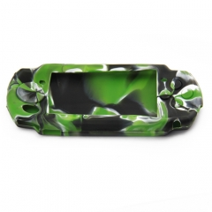 PSP 3000 silicon Case Camouflage green+black+white