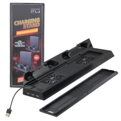 2in1 Multi-Function Charging Stand with Built-in Cooling Fans and USB HUB for PS4 Slim and PS4