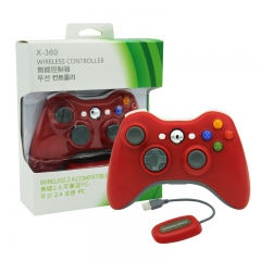 XBOX 360/PC 2.4G wireless controller neutral Packing/Red