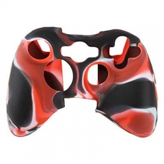 XBOX 360 Controller Silicon case-Camouflage Black+Red