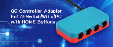 GC Controller Adapter For Switch/Wii u/PC with HOME Buttons