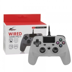 PS4/PS3/PC Wired Controller with sensor function Gray Color